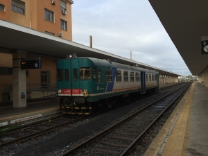 Trenitalia test train in Cagliari station
